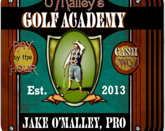 Personalized Coaster Set - Golf Academy Coaster Set - GC269 GOLF ACADEMY