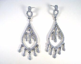 Cubic Zirconia Dangling Earrings
