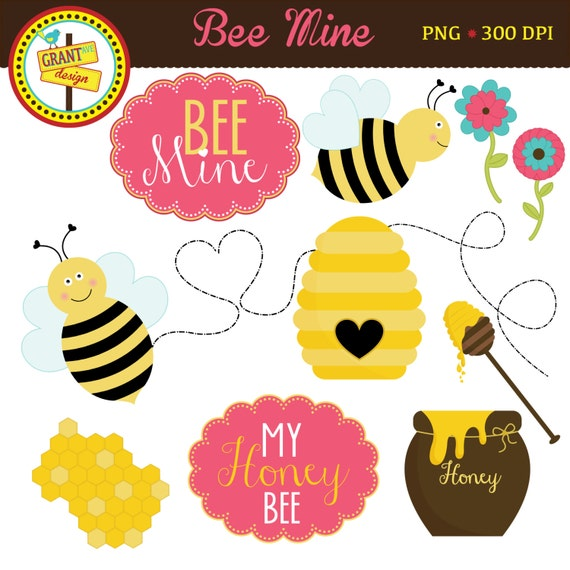 Valentines Clipart Bee Mine Clipart Cute Bee Clip Art