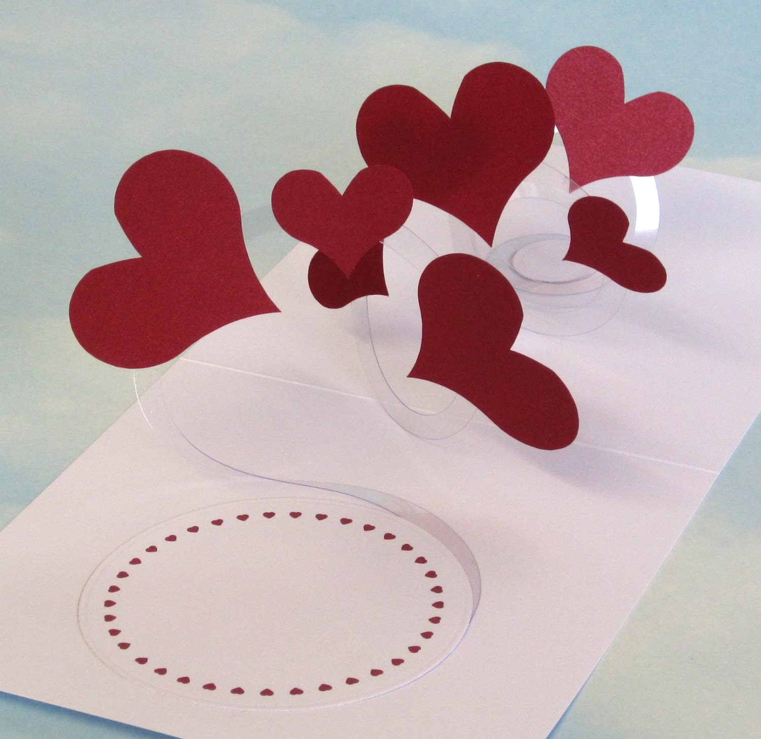 Hearts Card Spiral Pop Up 3D Hearts PopUp Card – Pop Up Valentines Day Card