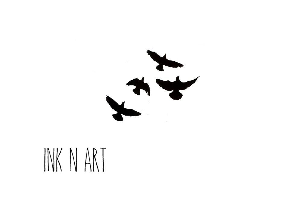 Soaring Bird Tattoo 4 flying swallows birds