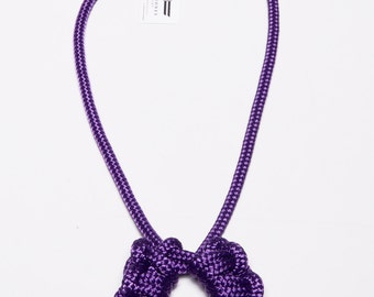 Florabelle Necklace (large) - rope necklace, knot necklace, macrame necklace, purple necklace
