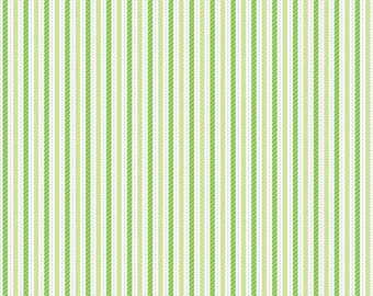 Home for the Holidays Stripes in Green - Riley Blake Designs