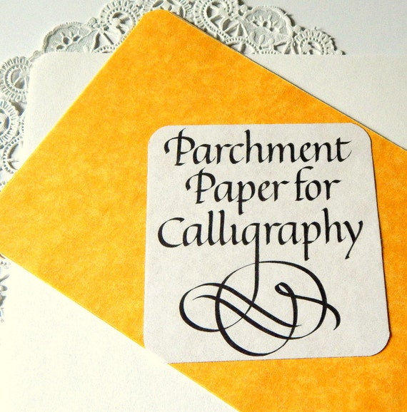 Vintage Calligraphic Parchment Paper Paper By Thepaperbasket