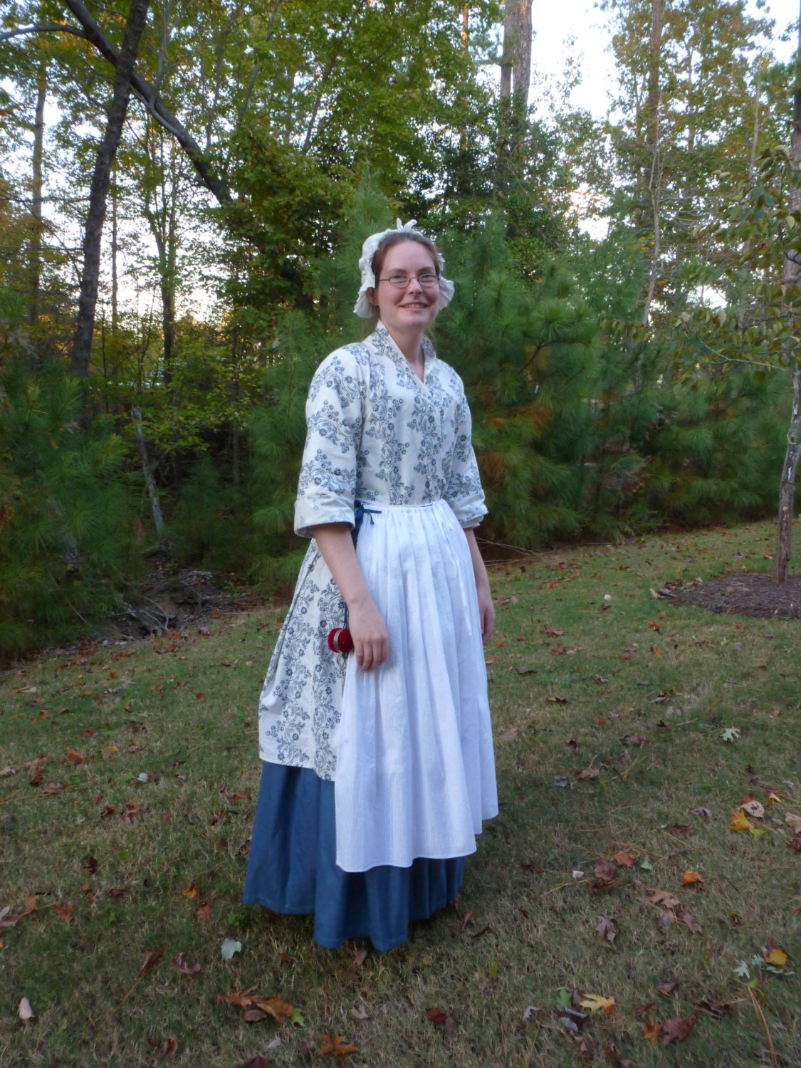 Christmas gown ideas 18th - Custom Order 18th Century Hand Sewn Bedgown For Colonial Rev War Reenacting Or
