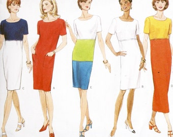 Butterick Fast & Easy 4997 Sewing Pattern Misses Dress Size 12-14-16