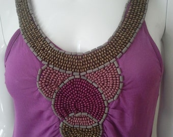 VioletWoody Shred Art Top