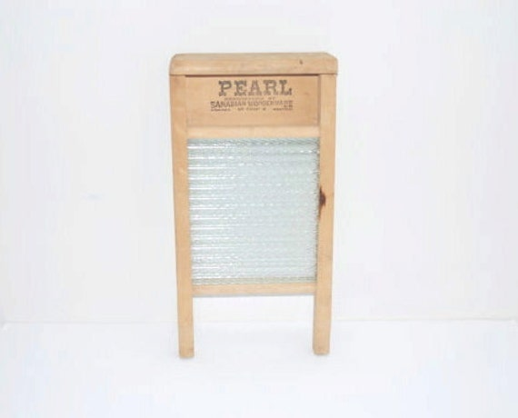 Vintage Wooden Washboard Laundry Room Decor