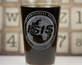 Archer Inspired ISIS Etched Sandblasted Pint Glass. Archer Gift, reddit gift, archer animated series