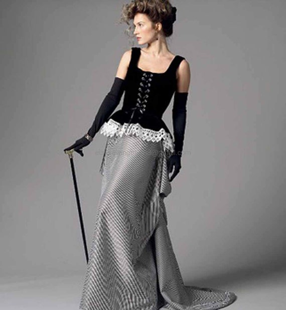 Victorian Bustle Skirt Pattern 76