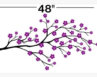 Cherry Blossom // Wall // Decal // sticker // art  // room // decor // branch // flower  // JA12