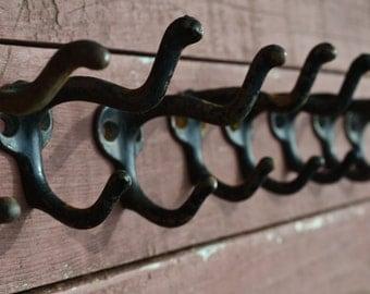 One 1 Chippy Wall Hook Double Coat Hook Cast Iron Hook