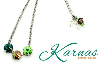 VIVACIOUS VERDANT 12mm Necklace Made With Swarovski Crystal *Pick Your Finish *Karnas Design Studio *Free Shipping*