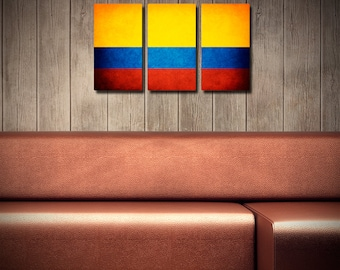 Colombia Flag Triptych (w/ Free Shipping!)