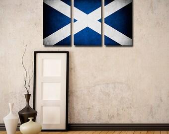 Scotland Flag Triptych (w/ Free Shipping!)