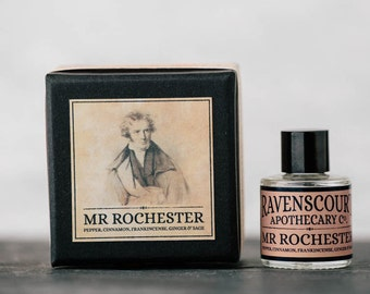 "Men's Cologne ""Mr Rochester"" - Pepper, Cinnamon, Frankincense, Ginger & Sage. Natural Botanical Fragrance For Men. 10 ml"