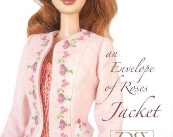 Sewing pattern for 11 1/2 inch fashion dolls: Roses Jacket