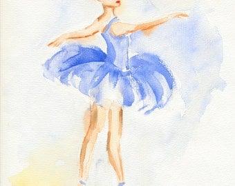 ballet fine art poster wall art print orignal ballet art room decor wall decor, ballerina art artwork painting watercolor