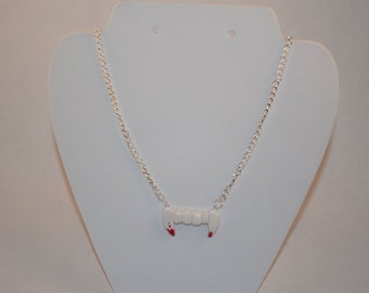 Bloody Vampire Fang Necklace