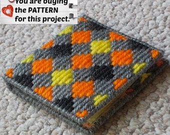 "Plastic Canvas Pattern: Graph 'N Go -- ""Harlequin"" Notepad Holder ***PATTERN ONLY***"