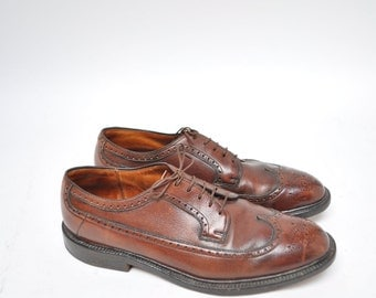 CORDWAINER leather wingtip oxford longwings brogues dress shoes size 9 1/2 D/B 9.5