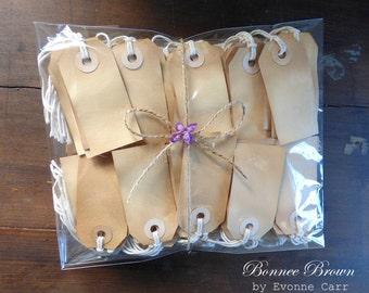 150 Plain Vintage Style Tea Dyed Gift Tags