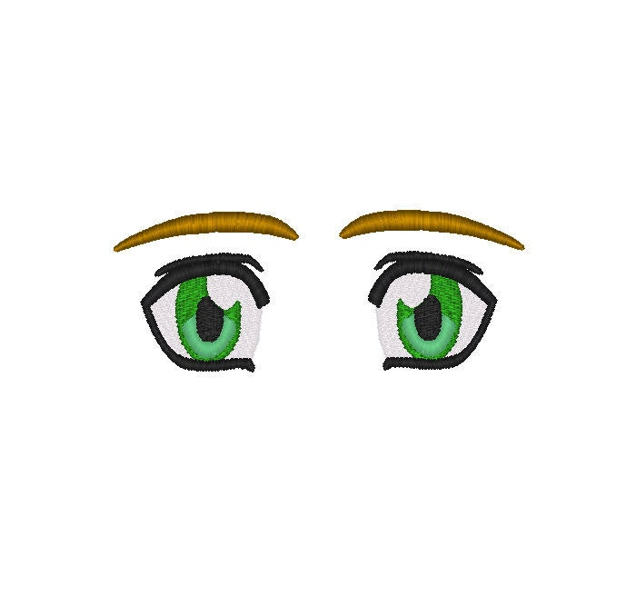 Machine Embroidery Design Anime Eyes, #228 From