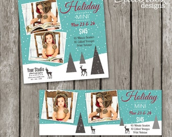 Holiday Mini Session Template - Christmas Facebook Cover Marketing Board Templates - Christmas Mini Session Flyer - TS02