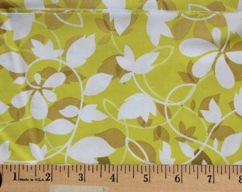 1/2 Yard - Theory Fading Leaves Forest - Anthology Fabrics - Kristian A. Howell - Lime, White, Olive, Tan