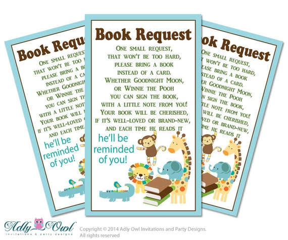 boy jungle book request baby shower printable diy tickets book