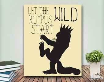 Where the wild things are baby,Nursery Print,Let the wild rumpus start,Instant Download,Monster print,Nursery Decor,Nursery Printable