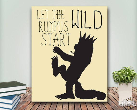 Gutsy image inside let the wild rumpus start printable