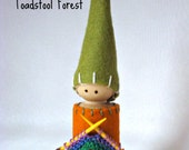 Waldorf Daily Rhythm Gnome ~ Knit, the Handwork Gnome ~ Knitting ~ Craft Time ~ Miniature Knitting