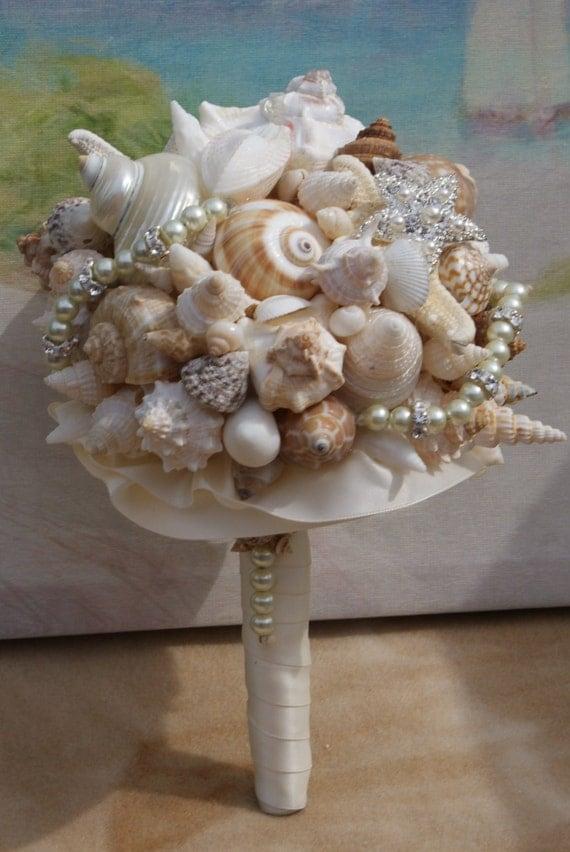 Seashell Wedding Bouquet Heart Of The Ocean Seashell Bouquet