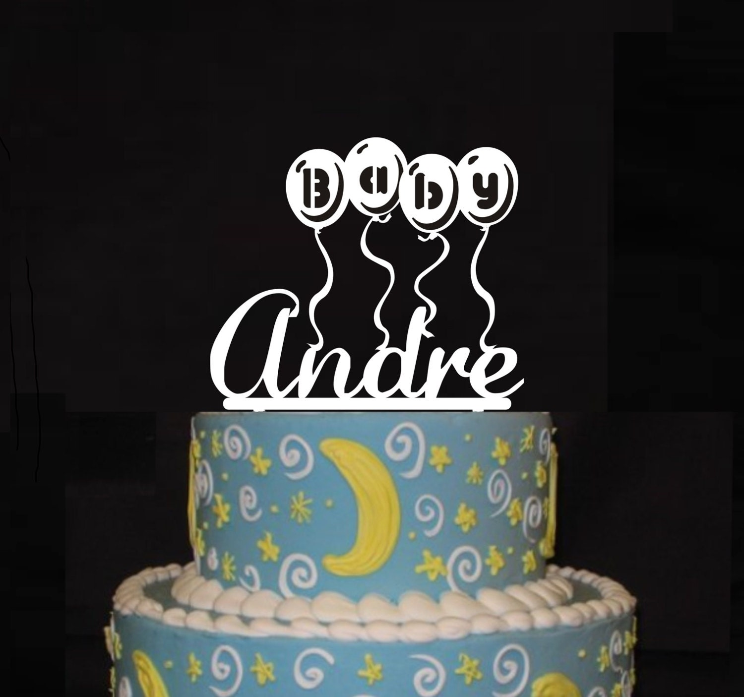 baby shower cake topper personalized baby boy name acrylic