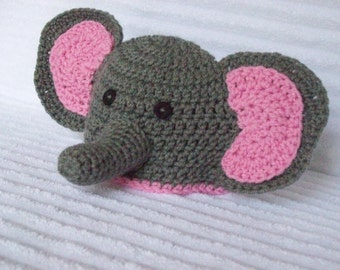 Crochet Pattern For Baby Elephant Hat : Crocheted elephant Etsy