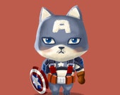 Superhero Cats Series - Captain Americat