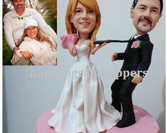 Custom Cake Toppers Wedding Topper Figurine Personalized Unique 3D Customzied
