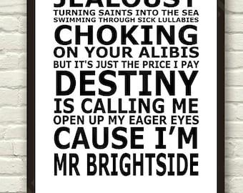 Mr Brightside Etsy