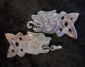 Celtic Dogs Cloak Clasp in Bronze
