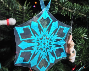 Hand Cut Snowflake Christmas Tree Ornaments