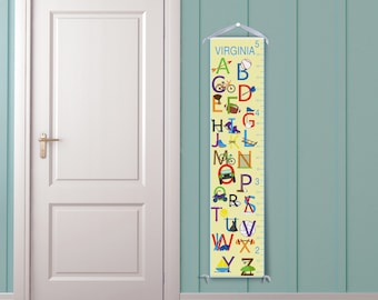 Sports Alphabet Personalized Children's Growth Chart