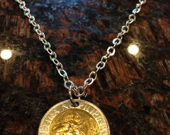 Philippines 10 piso coin necklace