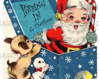 Santa Greetings Christmas Card #144 Digital Download