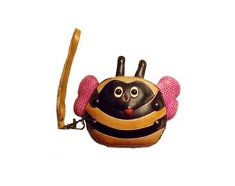 Bee Purse - Buzz the Bumblebee - Handmade Leather Bumblebee Purse - Item #1103