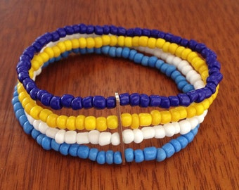 Beaded Bracelets in Assorted Colours