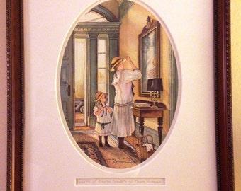 "Framed Print: ""Vignette of Easter Bonnets"" by Trisha Romance, 1987"