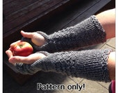 Outlander Claire Mitts PATTERN, Fingerless Gloves, Handmade, Knit, Wrist Warmers, Texting Gloves, Arm Warmers