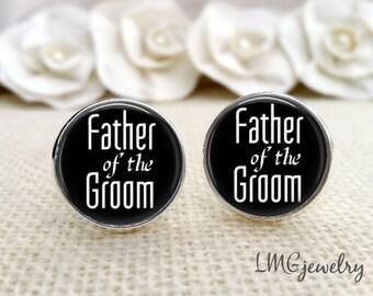 Father of the Groom Cufflinks, Wedding Cufflinks, Father of the Groom Gift, Gift for Dad, Wedding Gift, Father of the Groom