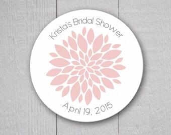 Bridal Shower Stickers, Wedding Shower Stickers, Flower Wedding Stickers, Envelope Seals (#130)